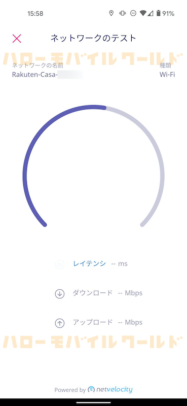 Rakuten Casa 楽天カーサ スマホアプリ つなげ方 ネットワークテスト